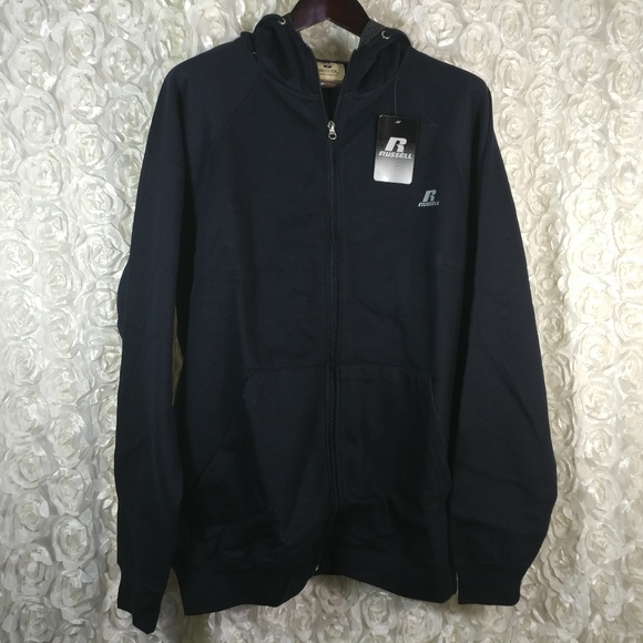 Black Mens nwt Russell Athletic Poly Fleece 1//4 Zip Pullover Big /& Tall